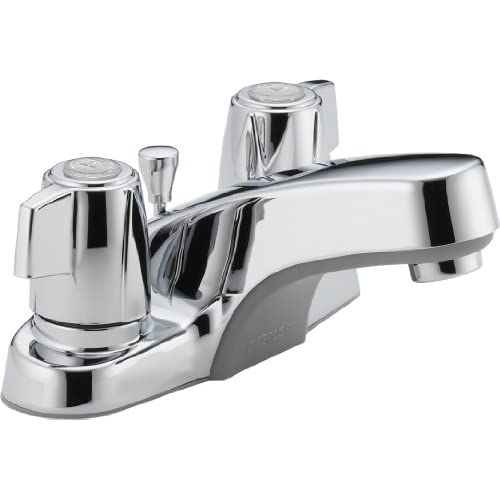 60%OFF Peerless P246LF-M Classic Two Handle Lavatory Faucet, Chrome