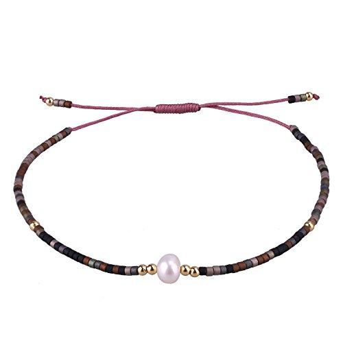 C·QUAN CHI Woven Bracelets Handmade Friendship Bracelets Multi Color Braided Bracelet Wrist Ankle Birthday Gifts Graduation Gifts Her