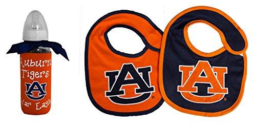 NCAA Auburn Tigers Infant Bottle and 2 Pack Bib Set - Auburn Tigers Bib