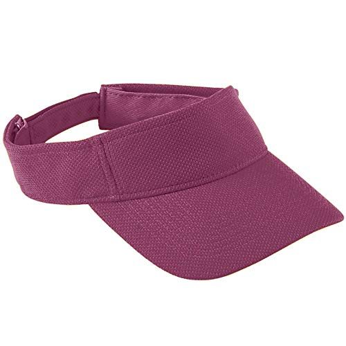 Augusta Sportswear Kids' Adjustable Wicking MESH Visor OS Maroon