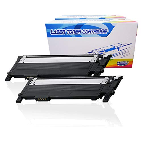 Inktoneram Compatible Toner Cartridges Replacement for Samsung CLP365 CLP-365 406S K406S CLT-K406S Xpress C410W C460FW CLP-360 CLP-365 CLP-365W CLX-3305 CLX-3305FN CLX-3305FW (Black, 2-Pack)