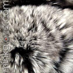 MinkgLove Chinchilla Pillow Cushion Cover 18'' (46cm) - Single Sided Fur