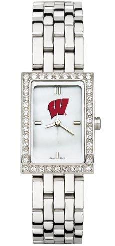 Wisconsin Badgers NCAA Allure Ladies Sterling Silver Bracelet Watch by Logo Art