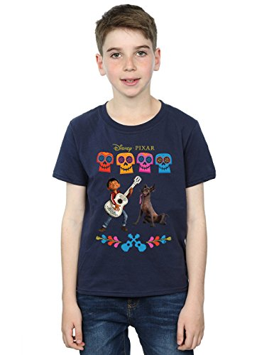 Price comparison product image Disney Boys Coco Miguel Logo T-Shirt 9-11 Years Navy Blue