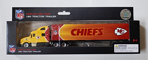 Press Pass 2010 NFL 1:80 Scale Diecast Tractor Trailer - KANSAS CITY CHIEFS by Press Pass