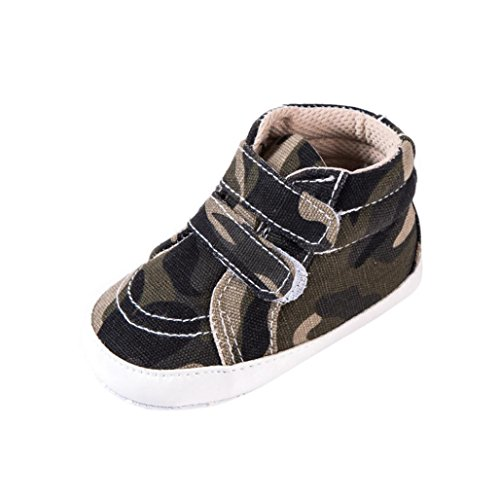 Oksale Newborn Baby Girl Boy Camouflage Soft Anti-slip Canvas Shoes Casual Shoes (3-6M, Camouflage)