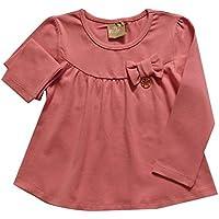 6db8716532148 Blusa infantil menina manga longa em Cotton
