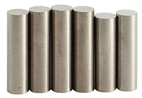 """guitar parts Alnico 2 Flat Top Rod Magnet Staggered Set.195"""" diameter (staggered set#3)"""