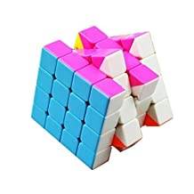 Qm-h 4x4x4 Speed Puzzle Magic Cube 6-color Sticker Rubik's pink