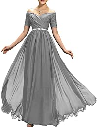 cad9b192302 Womens Beaded Off Shoulder Prom Bridesmaid Dresses 2018 Long Formal Evening  Ball Gowns TB32 · Lily Wedding
