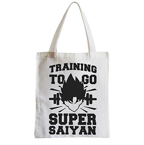 Große Tasche Sack Einkaufsbummel Strand Schüler Training zu gehen Super sayan manga Dragon Ball Z DBZ