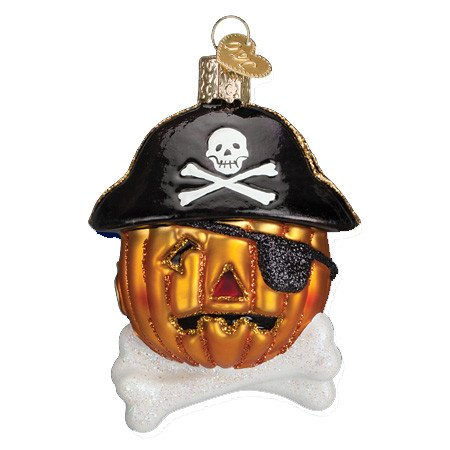 Old World Christmas Pirate Pumpkin Glass Blown -