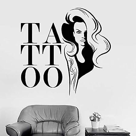 YuanMinglu Tatuaje Pegatinas de Pared salón de Belleza Apliques de ...