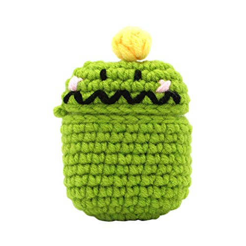 - Aobiny for AirPods Case - Cute Silicone Knitting Wool Winter Protective Case Cover e for Apple AirPods Earphones Accessories (C)