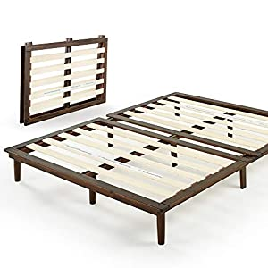ZINUS – BOBBIE – 10 INCH WOOD PLATFORM BED FRAME / MATTRESS FOUNDATION WITH STURDY WOOD SLAT SUPPORT / SOLID ACACIA WOOD / FOLDING DESIGN WITH TOOL FREE ASSEMBLY, QUEEN