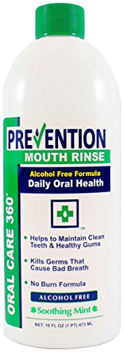 16 oz. Prevention Antibacterial Non-Alcohol Mouth Rinse 6/CS #1 Doctor Recommended