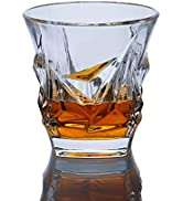 Paysky Bourbon Glasses Set of 4 Whiskey Glasses Set 4 ,a Whiskey lover' s gift ,The Crystal glass...