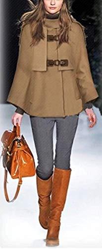 88 Smanicato Taglie Cappotto Incappucciato Tasche Bobo Estilo Poncho Monocromo Con Cappotti Autunno Lana Fashion Donna Kamel Button Primaverile Forti Especial Eleganti 8nOvmw0N