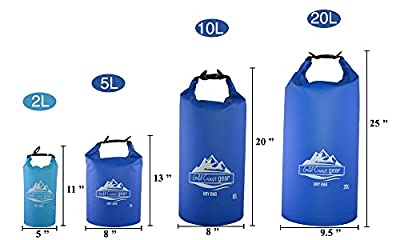Dry Bag Waterproof Sack Multiple Sizes with Shoulder Strap
