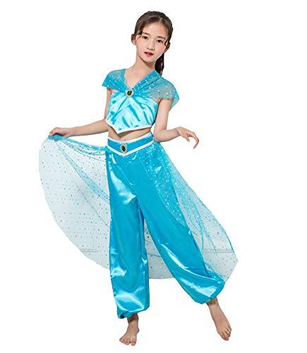 TOKYO-T Alladin Costume Girls Jasmine Dress Up
