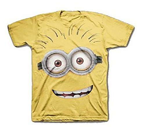 "Universal Studios Despicable Me - Jerry ""Face Time"" Minion T-shirt - Yellow (Large)"
