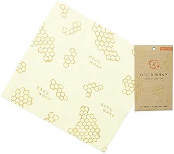 Bee's Wrap - Papel de Cera para Envolver Alimentos (33 x 35 cm), Color Beige