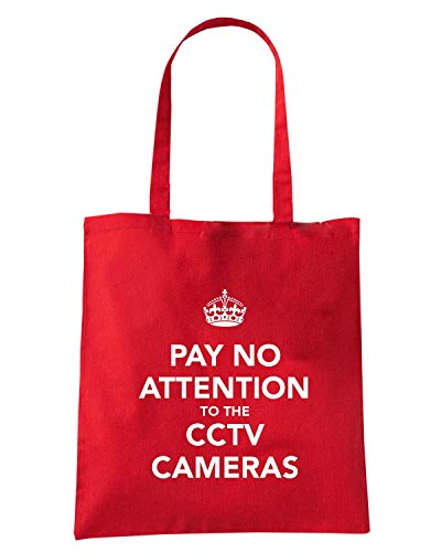 Shirt AND Shopper CALM CAMERAS KEEP PAY ATTENTION TKC4016 Rossa Borsa CCTV Speed TOTHE NO dEHnxpC0qd