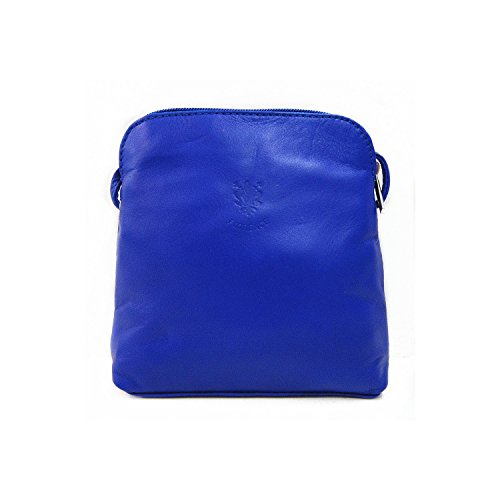 Bag Cross Leather Italian Handbag Shoulder Navy Real Jeans Blue Body Soft 7q0xSxaI