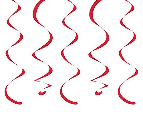 Dangler Hanging Decorations - Creative Converting 10-Count Dizzy Danglers Hanging Streamers, 18