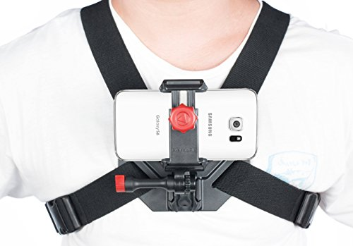 Samsung Chest Mount Holder **Record Awesome POV Action Videos** S4, S5, S6 & Note 2, 3, and 4 by Velocity Clip