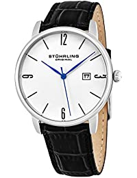 Men's 997L.01 Ascot Stainless Steel Date Watch With Black Leather Band