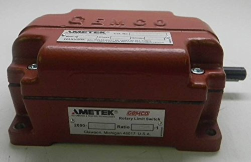 Ametek Gemco Geared Rotary Limit Switch, P/N: AME-2000-136B