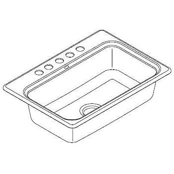 Kohler K 5832 5U 0 Bakersfield Undercounter Sink With Installation Kit,  White