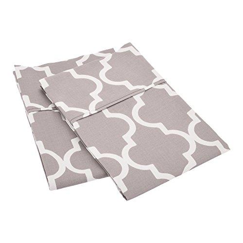 Superior 100% Cotton Trellis Geometric Bedding, Pillowcase S