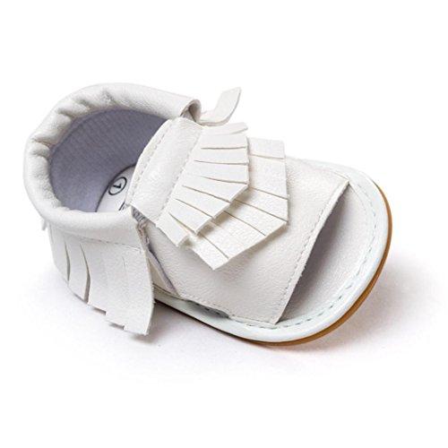 Zapatos de bebé,Xinantime Borla las Sandalias Primeros Caminante (11, Verde) Blanco