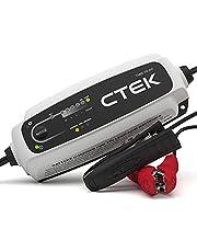 CTEK CT5 Time to Go - volautomatische acculader met coutdown-display (basislading, vernieuwing, druppellading van auto- en motorbatterijen) 12 V, 5 ampère - EU-stekker