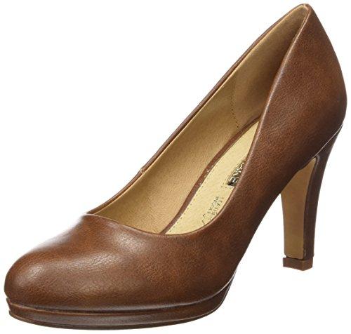 de Cerrada con Punta Tacón Mujer CASTAÑO BOMBEADO MTNG para 61303 Marrón Originals Zapatos FnUAx6tH