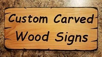 Amazon.com: Diuangfoong – Letrero de madera tallada ...