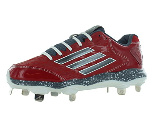 adidas Performance Womens PowerAlley 2 W Softball Cleat University Red/Carbon Metallic/White