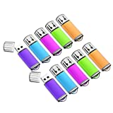 16GB USB Flash Drive 10 Pack with Easy-Storage Bag Memory Stick K&ZZ Thumb Drives Gig Stick USB2.0 Pen Drive for Fold Digital Date Storage, Zip Drive, Jump Drive, Flash Stick, Mixed Colors
