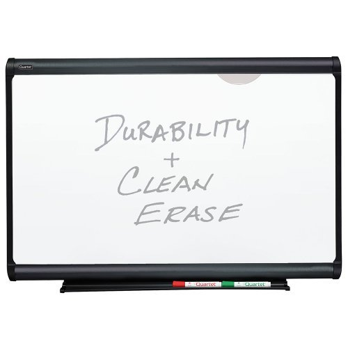 Plus Magnetic Total Erase Porcelain - Quartet Prestige Plus Magnetic Total Erase Porcelain Board, 3 x 2 Feet, Graphite Frame (P553G) by Quartet