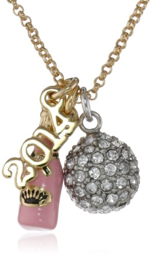 Juicy Couture New Year's Charm Cluster Necklace, 19