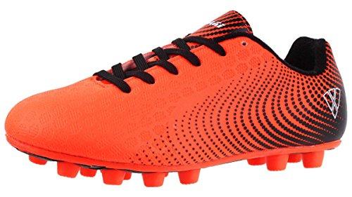 Vizari Unisex-Kids Stealth FG Size 5 Soccer-Shoes, Orange/Black, 5 Wide US Big Kid - Outdoor Soccer Cleats Youth