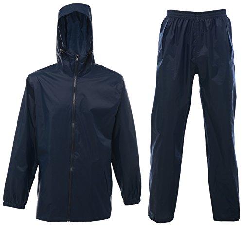 Regatta Classics unisex Classic breathable rainsuit, XL, Navy Breathable Rainsuits