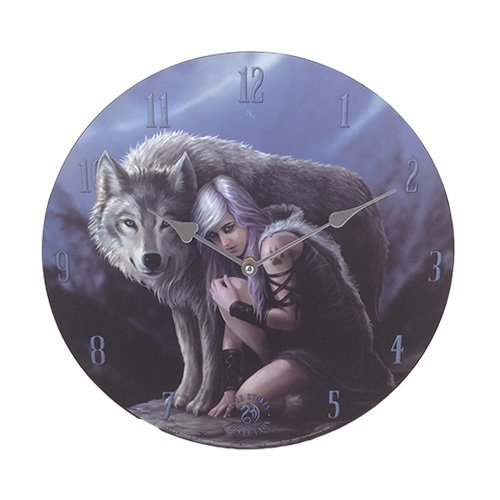 Anne Stokes Moon Tribe Princess Protector Gray Wolf 13.5