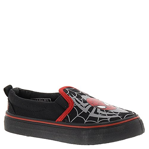 Marvel Heroes Spiderman Canvas Toddler Boys Size 10 Black Canvas Sneakers Shoes
