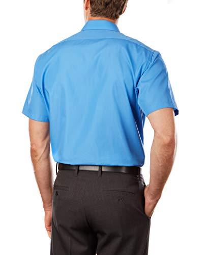 Van Heusen Men's Short Sleeve Dress Shirt Regular Fit Poplin Solid 3