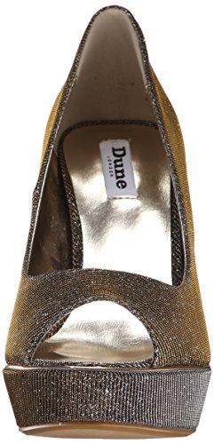 Dune London Davine Platform Lurex Pump Women's Gold rZqCr