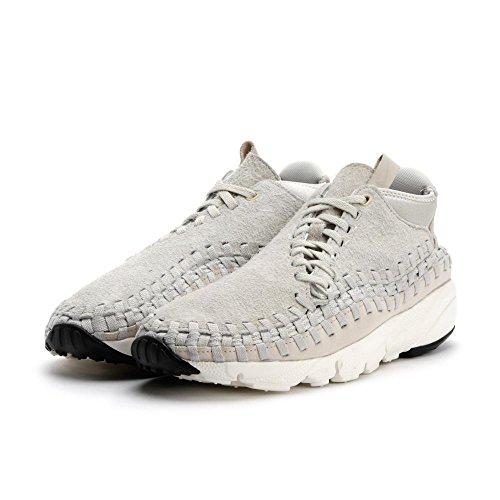 Nike Hombres Footscape Woven Chukka Qs Tela De Hueso Claro Gris / Hueso Ligero / Light Bone-cumbre Blanco