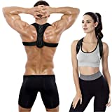 Posture Corrector, Aptoco Back Support Brace for Women and Men Upper Back Posture Correction Clavicle Support Easy Stress and Pain Relief One Size Fit All